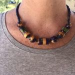 Chunky colorful handmade necklace