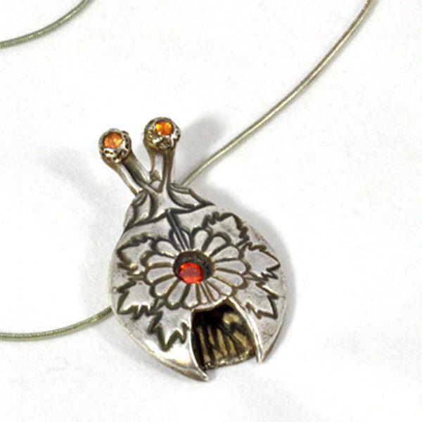 Mexican Motif Silver Bug Pendant