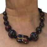 Jewelry Set- Black Necklace - Earrings