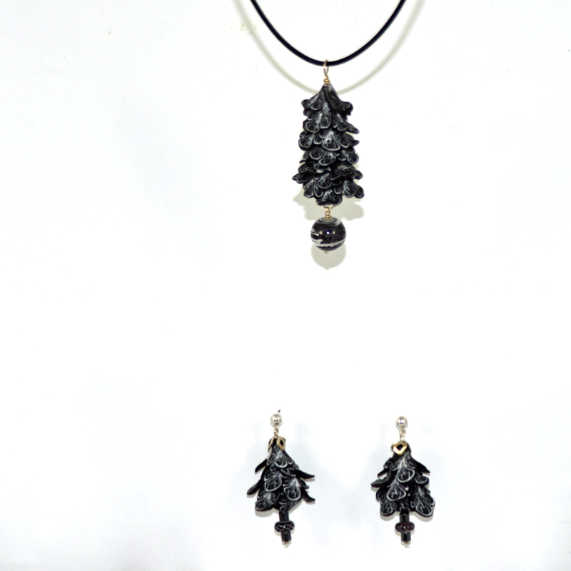 Black White Jewelry set