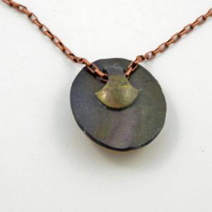 Copper and Agate Pendant