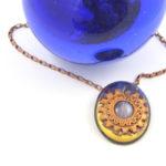 Lavender Agate in Copper Setting Pendant