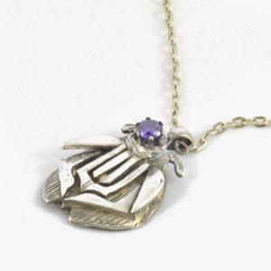 Art Deco Silver Pendant