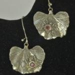 Lady bugs handmade silver earrings