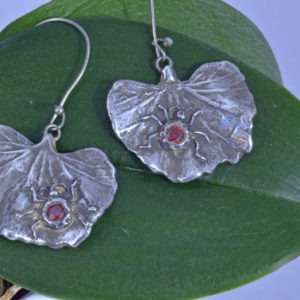 lady bug silver earrings
