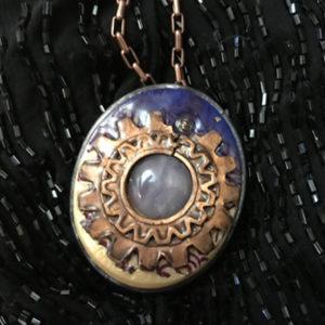 Copper Setting, Lavender Agate Pendant