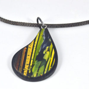 image of Polymer teardrop necklace