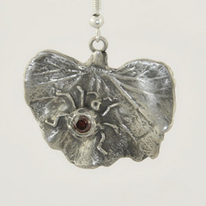 lady bug handmade silver earring