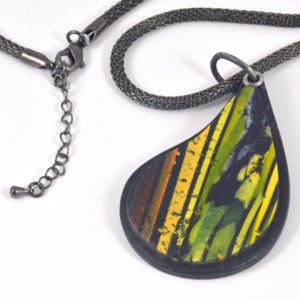 closeup of Teardrop Rainforest necklace