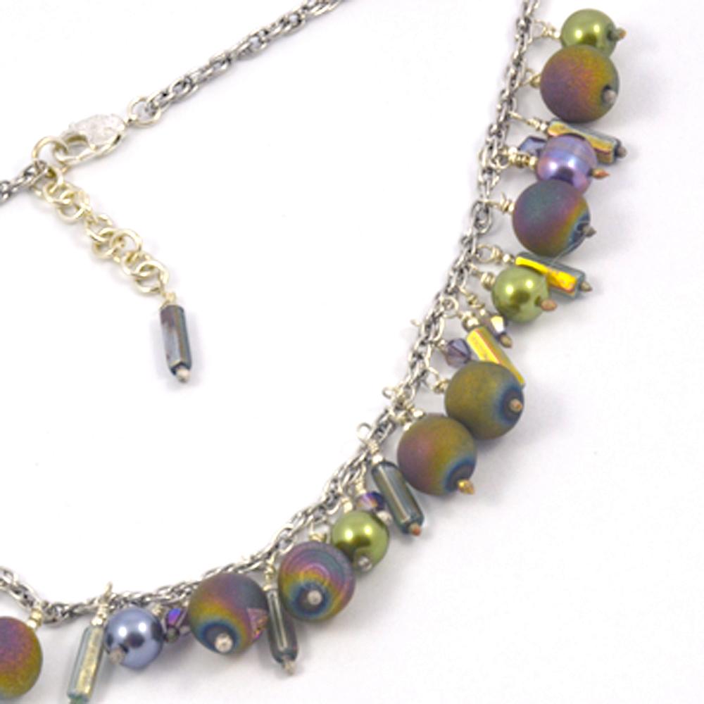 Pearl Druzy Crystal Necklace