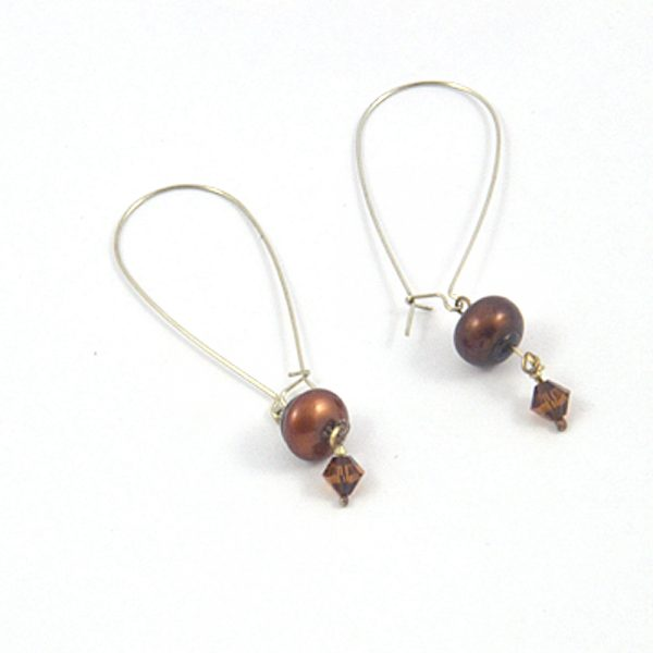 image of chocolate pearl earrings