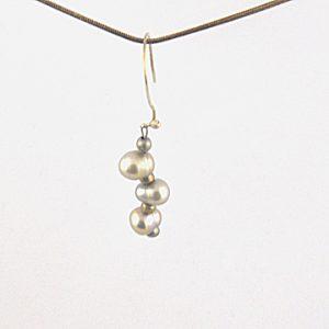 Gray Baroque Pearl Earrings