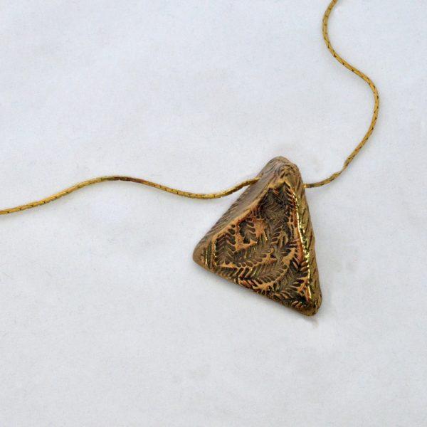 Diversity bronze necklace pendant